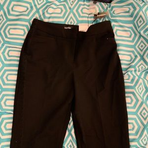 Express Tie Ankle Mid Rise Dress Pants